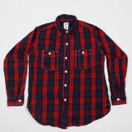 POST OVERALLS - Engineers Flannel Shirt (Red)