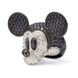 JAM HOME MADE - MICKEY'S FACE RING PAVE -FULL COLOR-