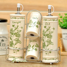 Karenin ceramic oil and vinegar bottle oil and vinegar bottle cruet spice jar kitchen storage