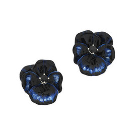 KAREN WALKER - Blue Pansy Earrings