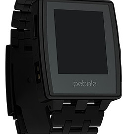 pebble - BLACK MATTE WITH ADDITIONAL METAL BAND