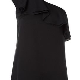 Theory - one-shoulder ruffle top