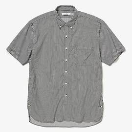 nonnative - DWELLER B.D. SHIRT S/S RELAXED FIT C/P SATIN LONDON STRIPECOOLMAX_