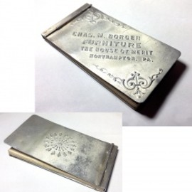 "アメリカン・アンティーク - 1910-20's Aluminum ""Advertising"" MINI Notebook"