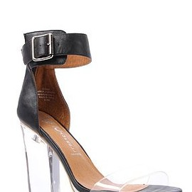 JEFFREY CAMPBELL - Soiree -Black and Clear