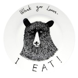 jimbobart - 'What you leave I Eat' Side Plate
