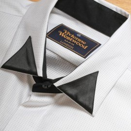 Vivienne Westwood MAN - Contrast Collar Detail Shirt in White