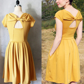 FleetCollection - HOLLY GOLIGHTLY MUSTARD Yellow dress