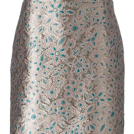 Lanvin - embroidered floral effect skirt