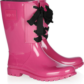 RED VALENTINO - Lace-up rubber rain boots