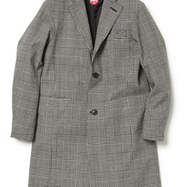 nonnative - OFFICER COAT WOOL GREN CHECK WITH WINDSTOPPER