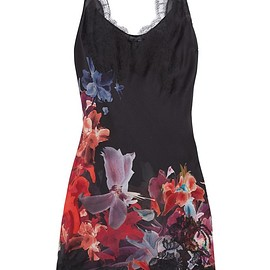 Carine Gilson - Lace-trimmed floral-print silk-satin chemise