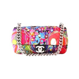 CHANEL - Multi-color Quilted Satin Kalidescope Flap Bag
