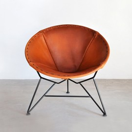 Garza Marfa - Round Leather Chair