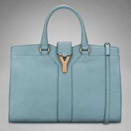 YVES SAINT-LAURENT - YSL Mini Cabas Chyc in Skye Blue