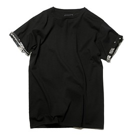 uniform experiment - BANDANA CUFF PANEL BIG TEE