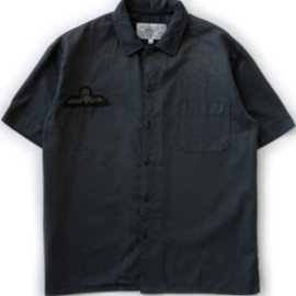 PEEL&LIFT - Flat Collar Shirt (black)