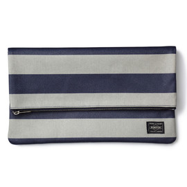 "HEAD PORTER - ""OXFORD"" CLUTCH BAG GREY"