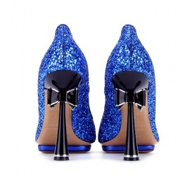 Nicholas Kirkwood - GLITTER PUMPS WITH BOW TRIMMED HEEL
