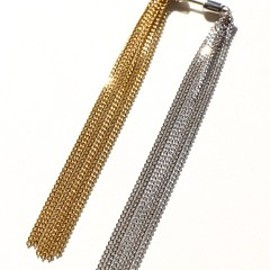 simmon - Horse Tail  Fringe Earring (silver/gold)
