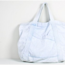 Oak - bleach denim tote bag medium