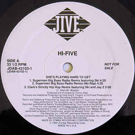 "Hi-Five - She's Playing Hard To Get (The Remixes) (Vinyl, 12"", 33 ⅓ RPM, Promo)"