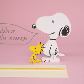 PEANUTS, THEATER8, GOODMORNING - PEANUTS Standing Message Card