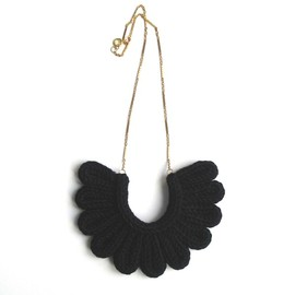 A Alicia Hand Made Accessories — Hawk Necklace, hand-knitted - Black
