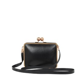 repetto - Minaudière 'Loggia' Black Lambskin and Python