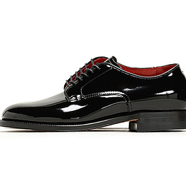 Alden - 53670 Patent Military Plain Toe-Black