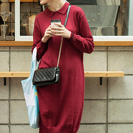 haco. - Knit Polo One-Piece