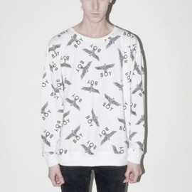 BOY LONDON - BOY REPEAT SWEAT - White