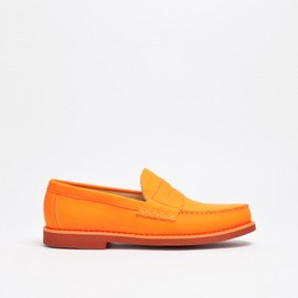 Carven - Penny Loafer Leather Orange