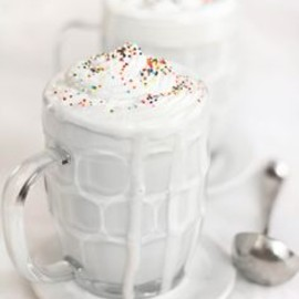 Sprinkle dusted Whiteout Cocoa