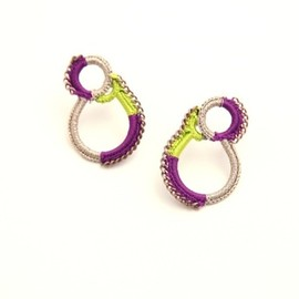 SHINGO MATSUSHITA - ピアス purple×light green×beige P11W05