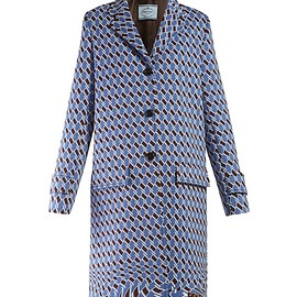 PRADA - Resort 2019 Houndstooth-print single-breasted coat