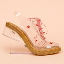 SIMONE ROCHA - 【円高還元】12/SS.new∇Simone Rocha ∇Low Shoes /CLEAR RED 1