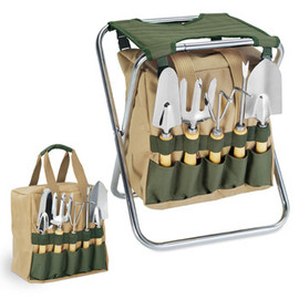 Gardening Tools with Folding Chair
