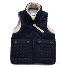 VOO - MAGICAL MELTON VEST /NAVY