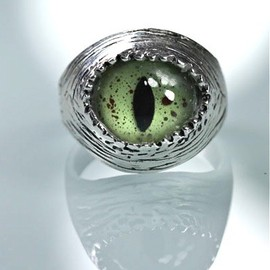 blue bayer design NYC - Snake Eye Ring sizes 4 to 11 self adjustable sterling silver made in NYC