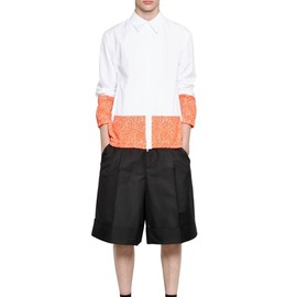 JIL SANDER - TWO TONE HEAVY COTTON POPLIN JACKET