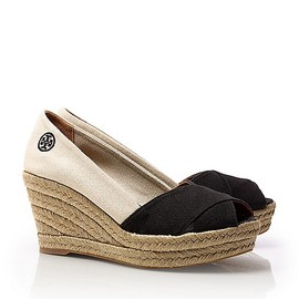 TORY BURCH - Color-blocked Filpa Wedge Espadrille