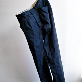 comoli - Denim Pleats Pants