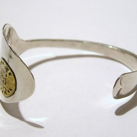Lin francais d'antan - Antique Spoon Bangle