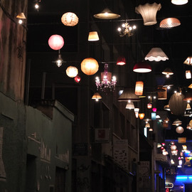 designboom - communal lighting installation from donated fixtures by beforelight