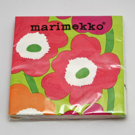 marimekko - unikko paper napkins yellow green/ red/ orange 2012 spring