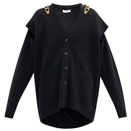 Givenchy - Chain-embellished wool-blend cardigan