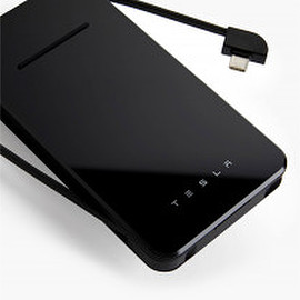 Tesla - Portable/Wireless Phone Charger - Black