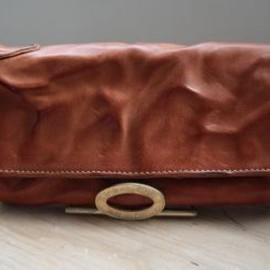 annak - washed leather long wallet