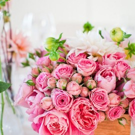 style me pretty - rose bouquet